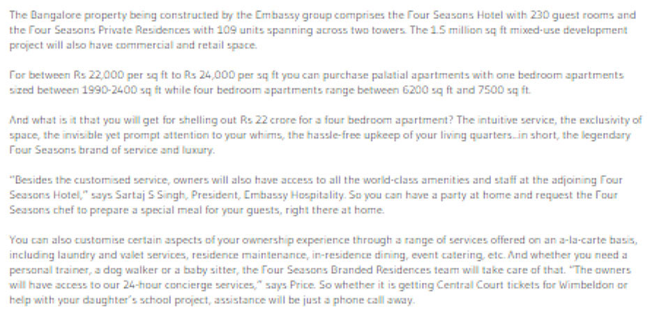 News Media Ultra Luxury Residential Projects Embassy One